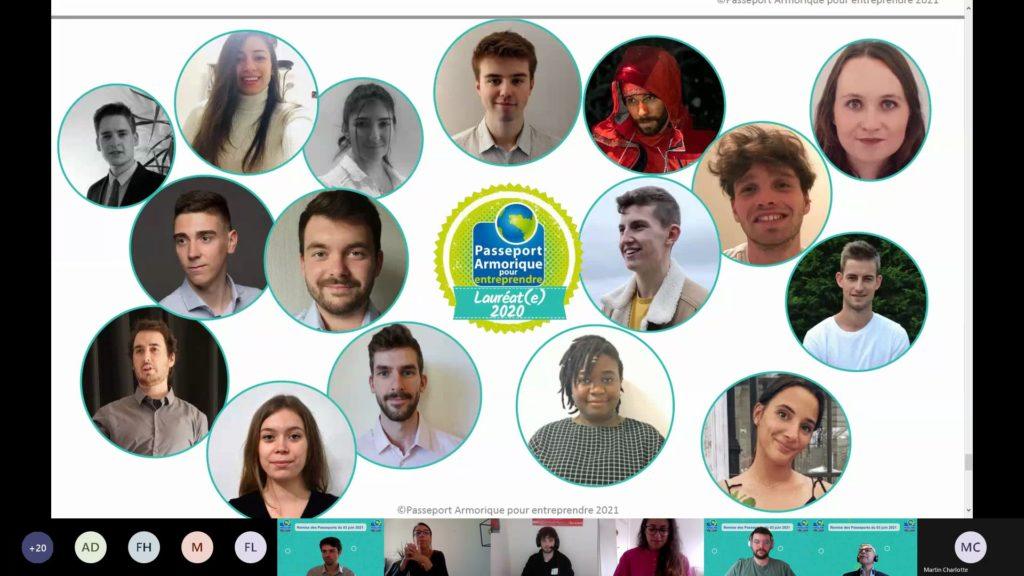 lauréats Passeport Armorique 2020/2021